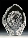 Lion Leaded Crystal Sculpture