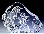 Mermaid & Unicorn Leaded Crystal Sculpture