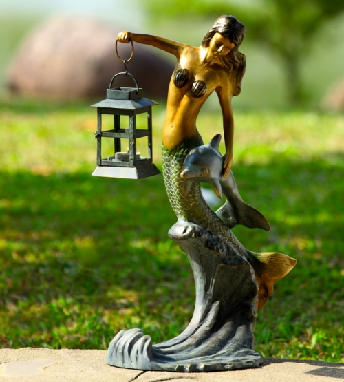 Mermaid and Dolphin Lantern