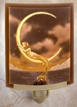 Mermaid & the Moon Colored Lithophane Night Light