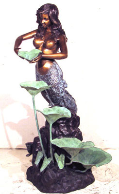 Mermaid with Lotus Leaf Fountain